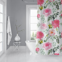 PEONY DREAMS Shower Curtain By Sharon Gunawon