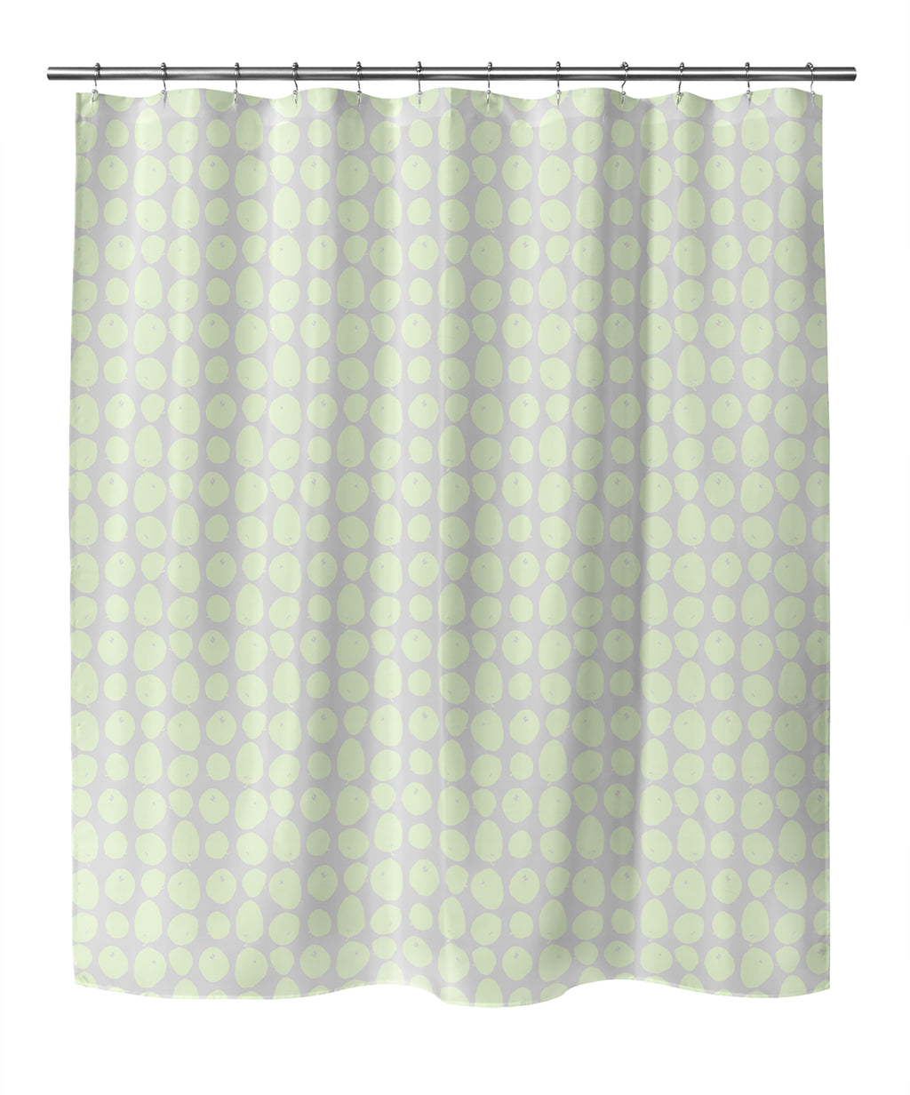 APPLES GREEN Shower Curtain By Hope Bainbridge