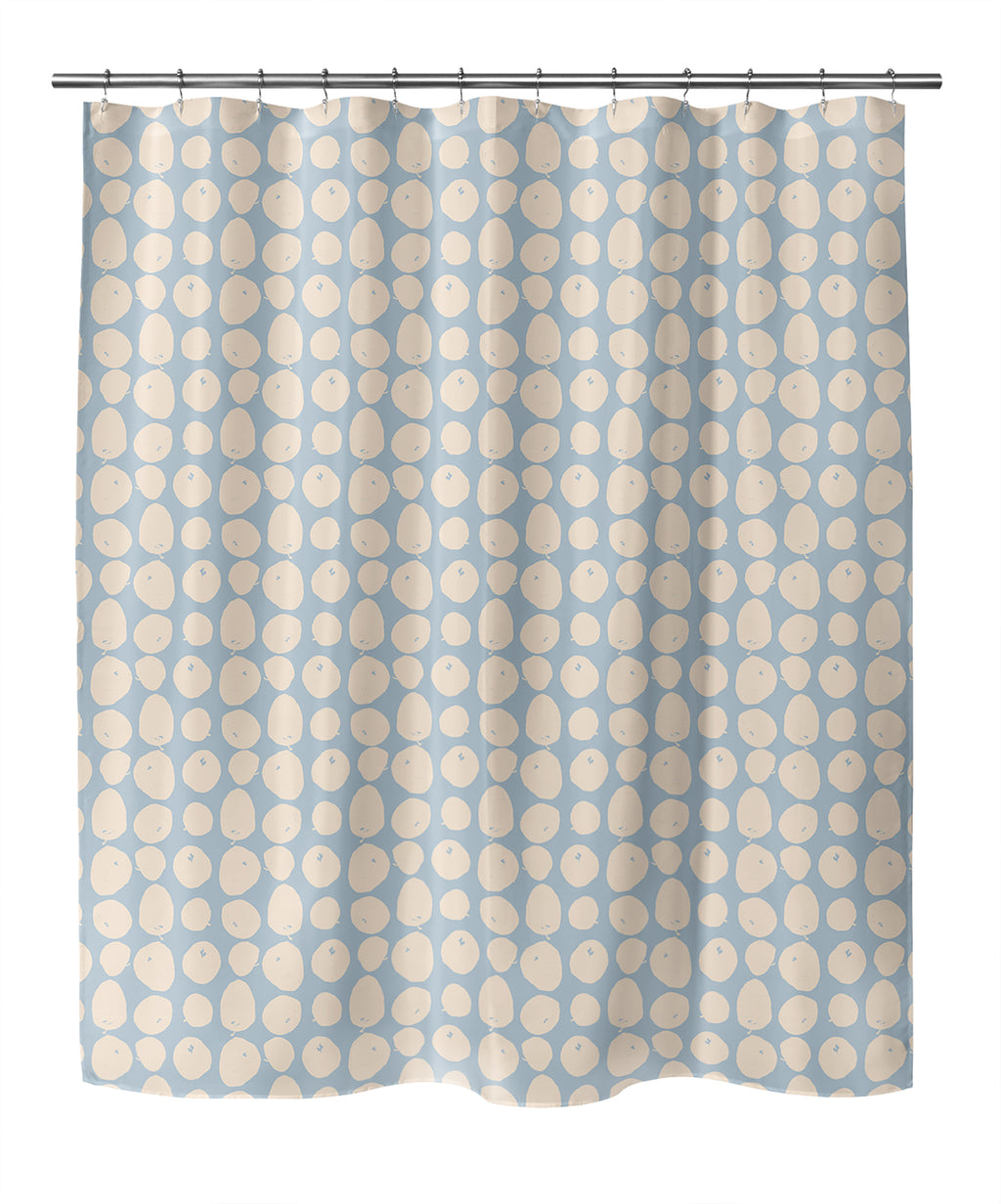 APPLES PEACH Shower Curtain By Hope Bainbridge