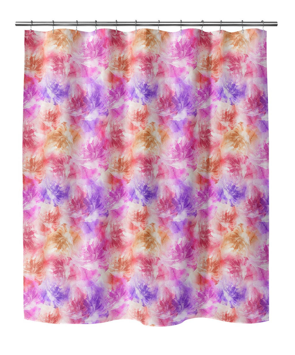 FLORAL BLOOMS PINK AND PURPLE Shower Curtain By Jackii Greener
