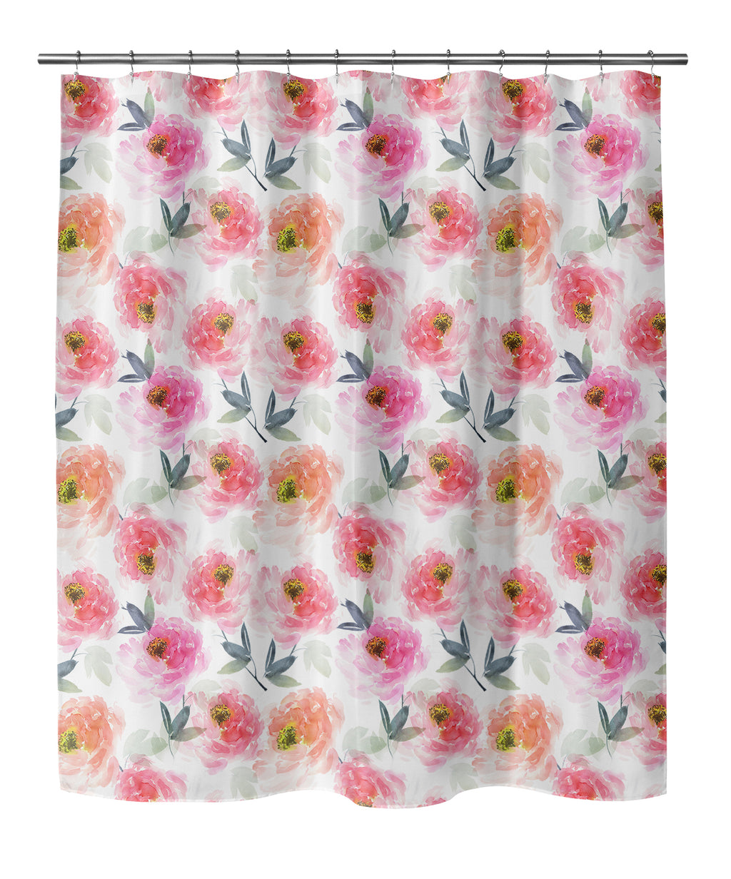 FLORAL LOVE PINK Shower Curtain By Jackii Greener