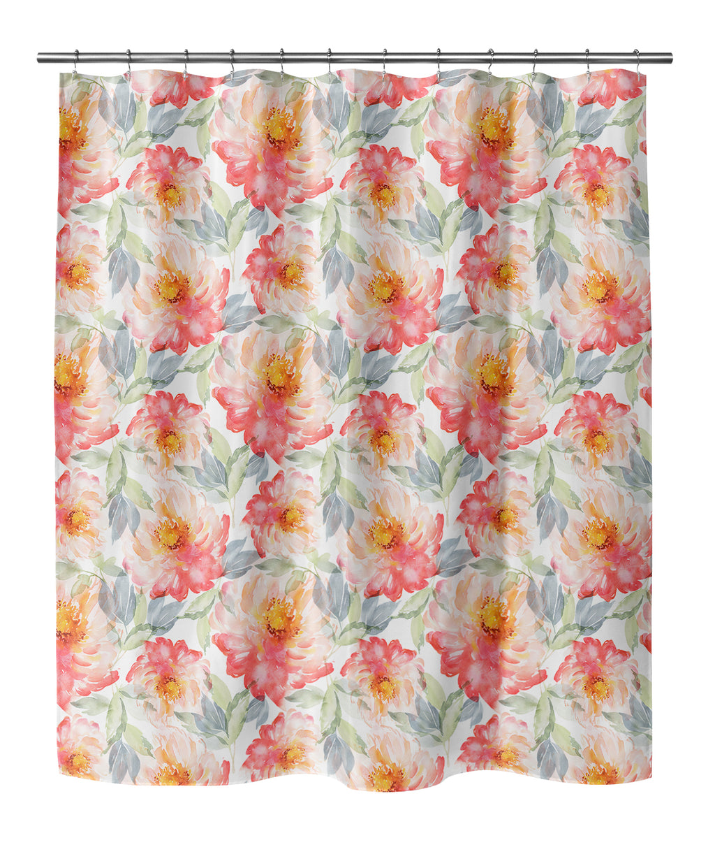 FLORAL LOVE BLUSH Shower Curtain By Jackii Greener