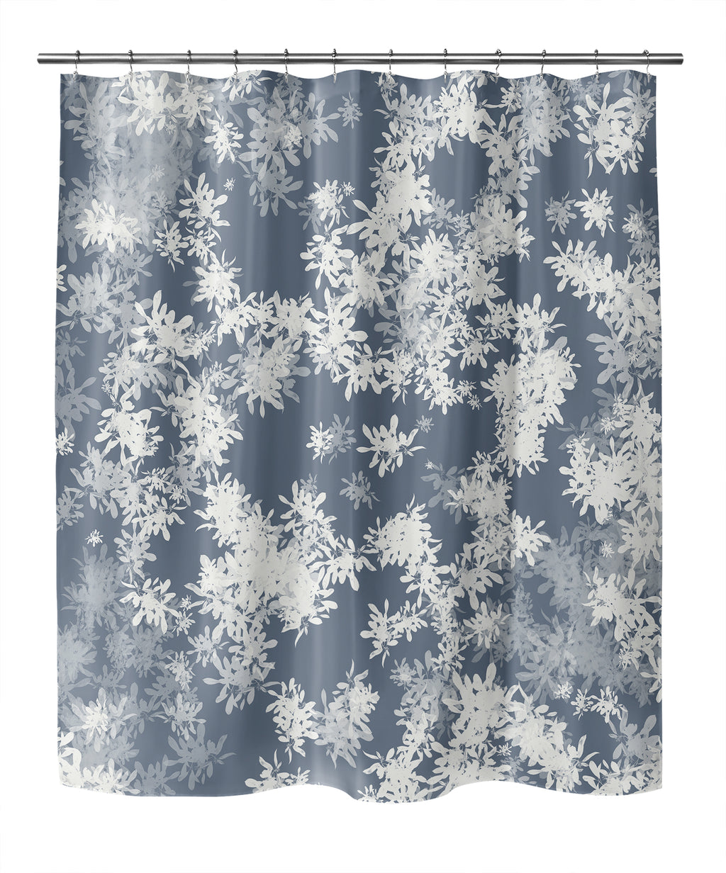 ANNA BLUE Shower Curtain By Jen Jones