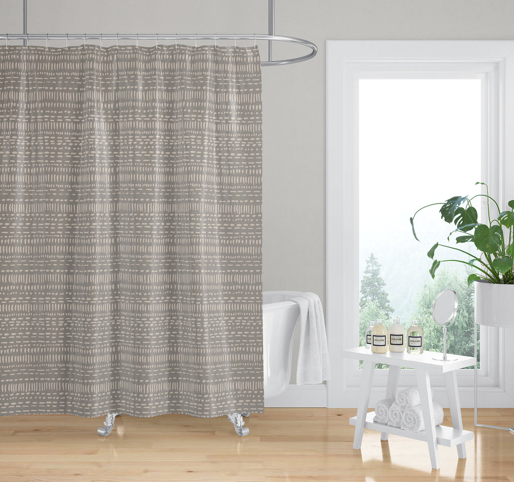 TRIBAL DANCE TAUPE Shower Curtain By Kavka Designs