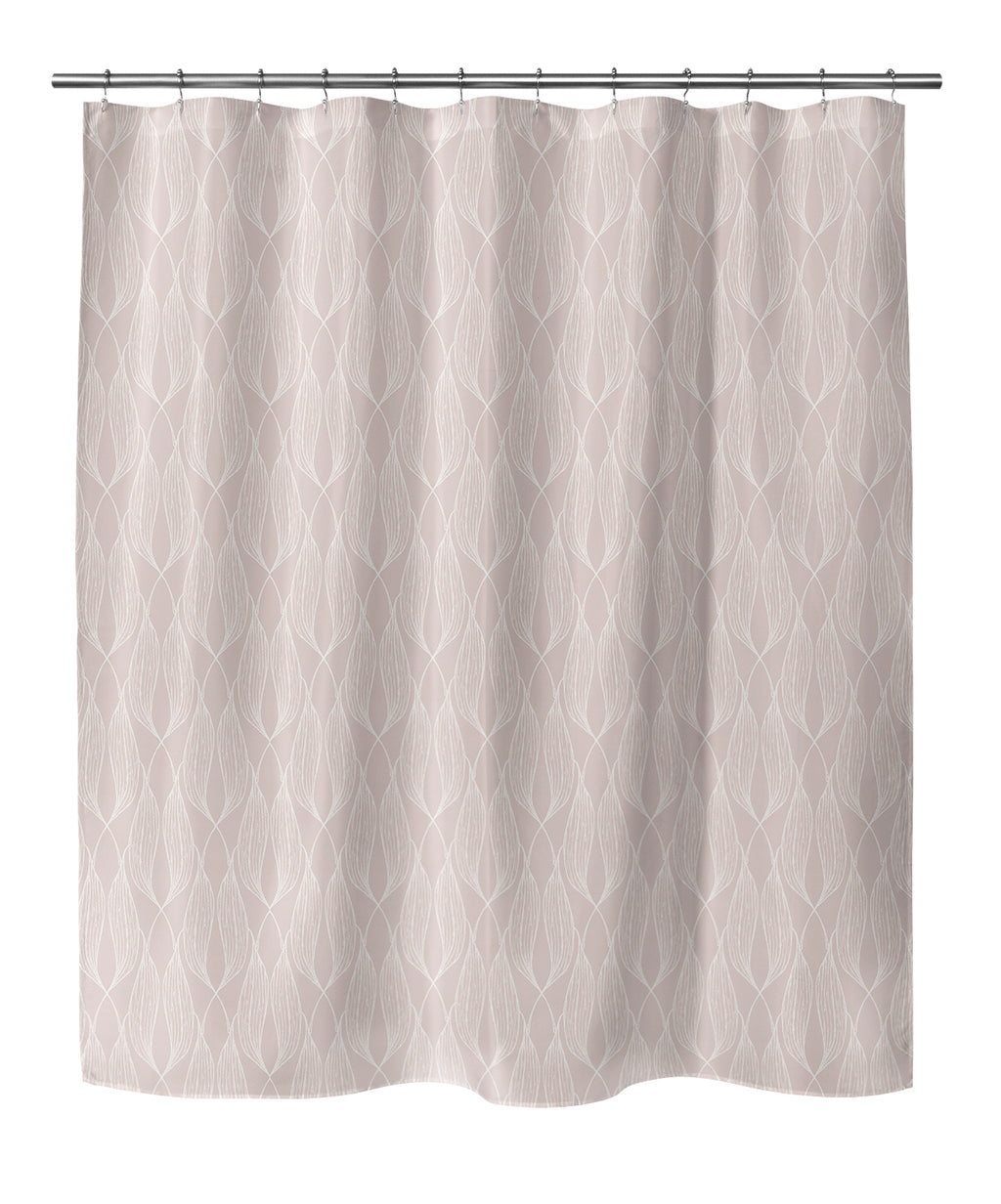ALAINA PINK Shower Curtain By Terri Ellis