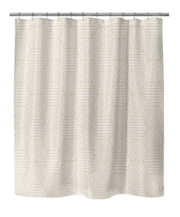 ATHENA OATMEAL Shower Curtain By Terri Ellis