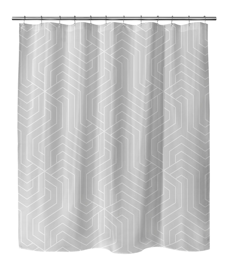 BRICKLE GREY Shower Curtain By Terri Ellis