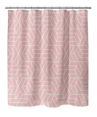 TITAN PINK WHITE Shower Curtain By Terri Ellis