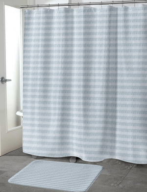 FLAPPER BLUE Shower Curtain By Tiffany Wong