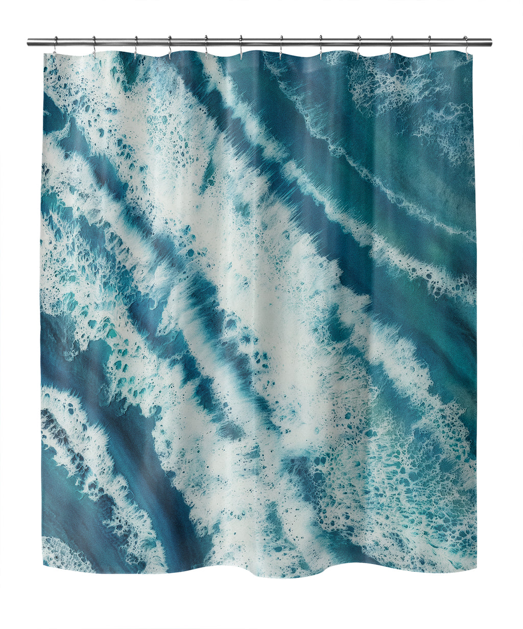 TROPICAL WAVES Shower Curtain By Christina Twomey
