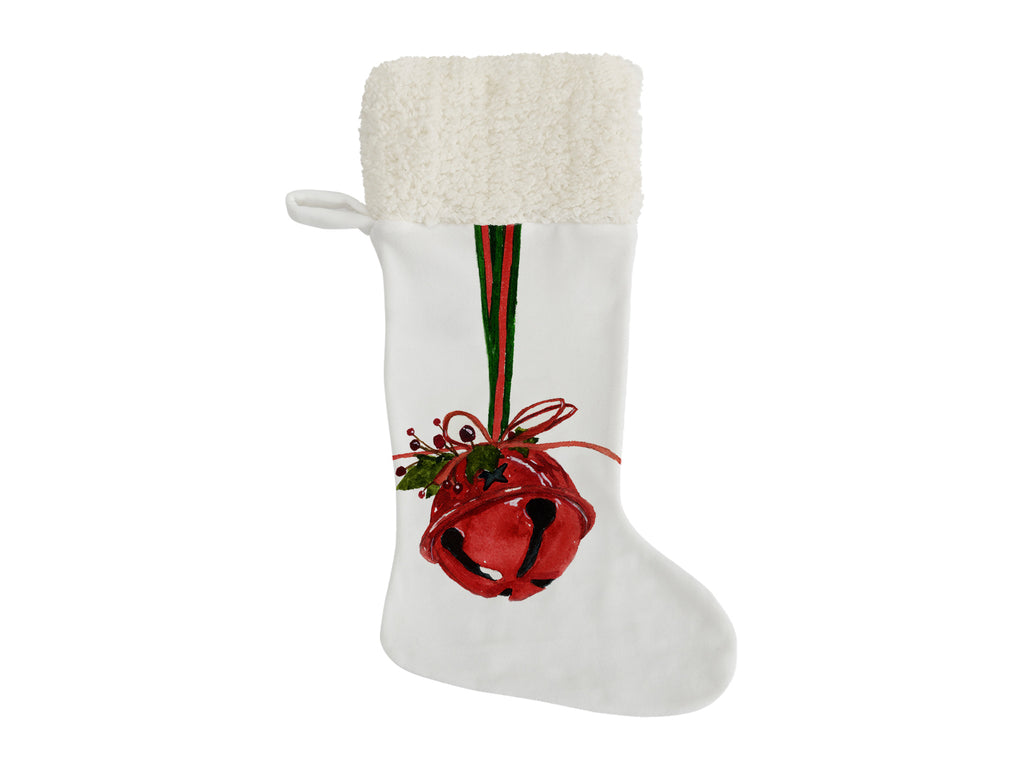 RED BELL Christmas Stocking by Jayne Conte