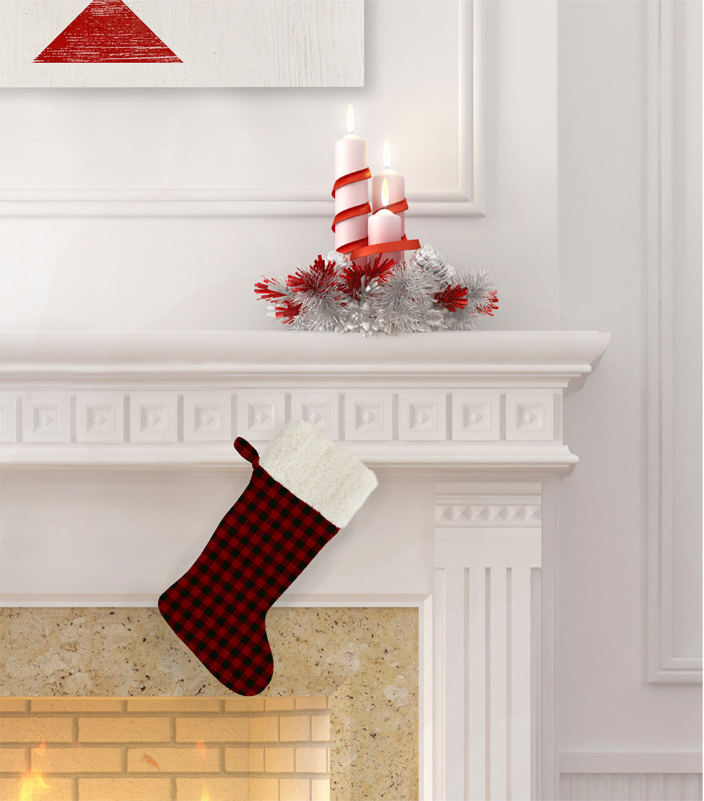 BUFFALO RED Christmas Stocking by Terri Ellis