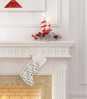 CHRISTMAS CAR WITH TREE Christmas Stocking by Terri Ellis