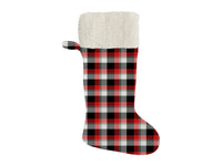 MAD PLAID FOUR Christmas Stocking by Terri Ellis