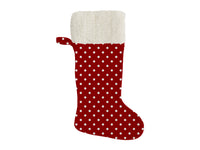 POLKA DOTS RED Christmas Stocking by Terri Ellis