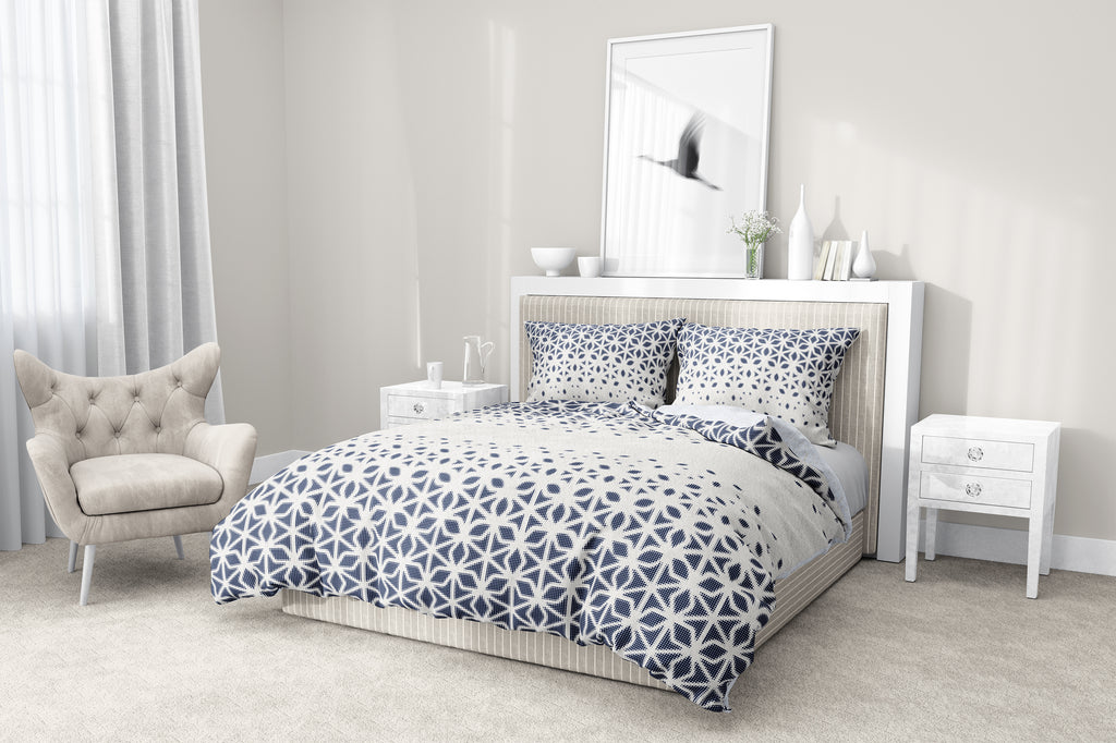 SCANDI STAR BLUE 5-Piece Sherpa Comforter Set By Scandi Girl Studio