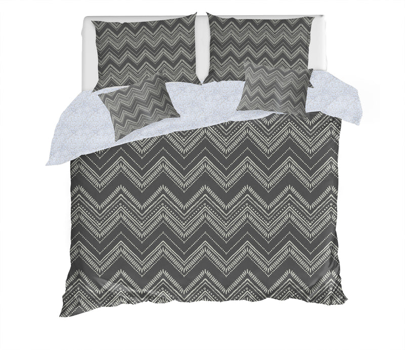 SCANDI ZIG DUSK 5 Piece Sherpa Comforter Set By Scandi Girl Studio