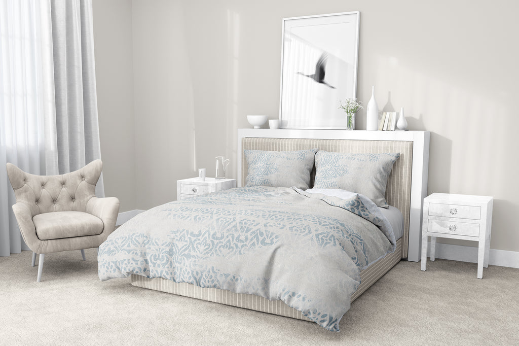 SIGRID BLUE 5-Piece Sherpa Comforter Set By Scandi Girl Studio