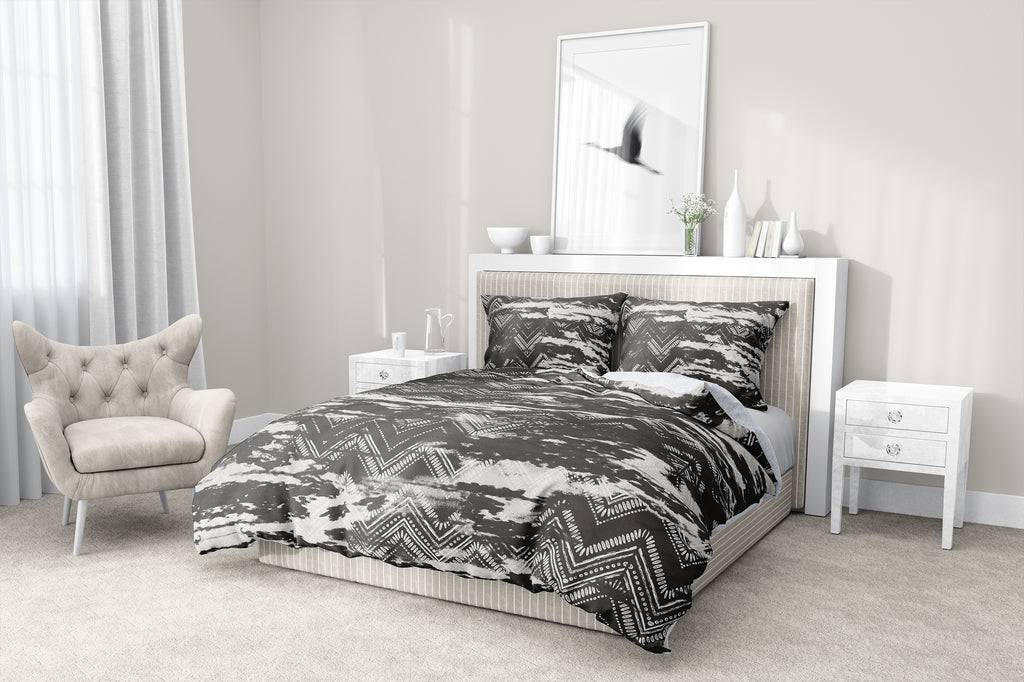 ZIG DISTRESSED DUSK 5-Piece Sherpa Comforter Set By Scandi Girl Studio