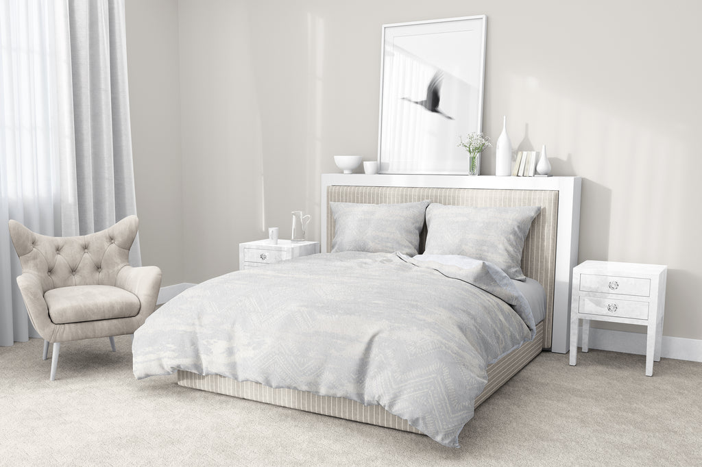 ZIG DISTRESSED FOG 5-Piece Sherpa Comforter Set By Scandi Girl Studio
