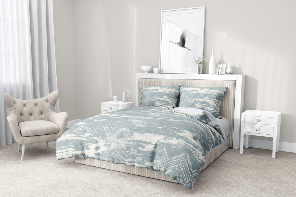 ZIG DISTRESSED MIST 5-Piece Sherpa Comforter Set By Scandi Girl Studio