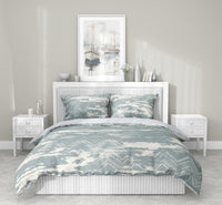 ZIG DISTRESSED MIST 5 Piece Sherpa Comforter Set By Scandi Girl Studio