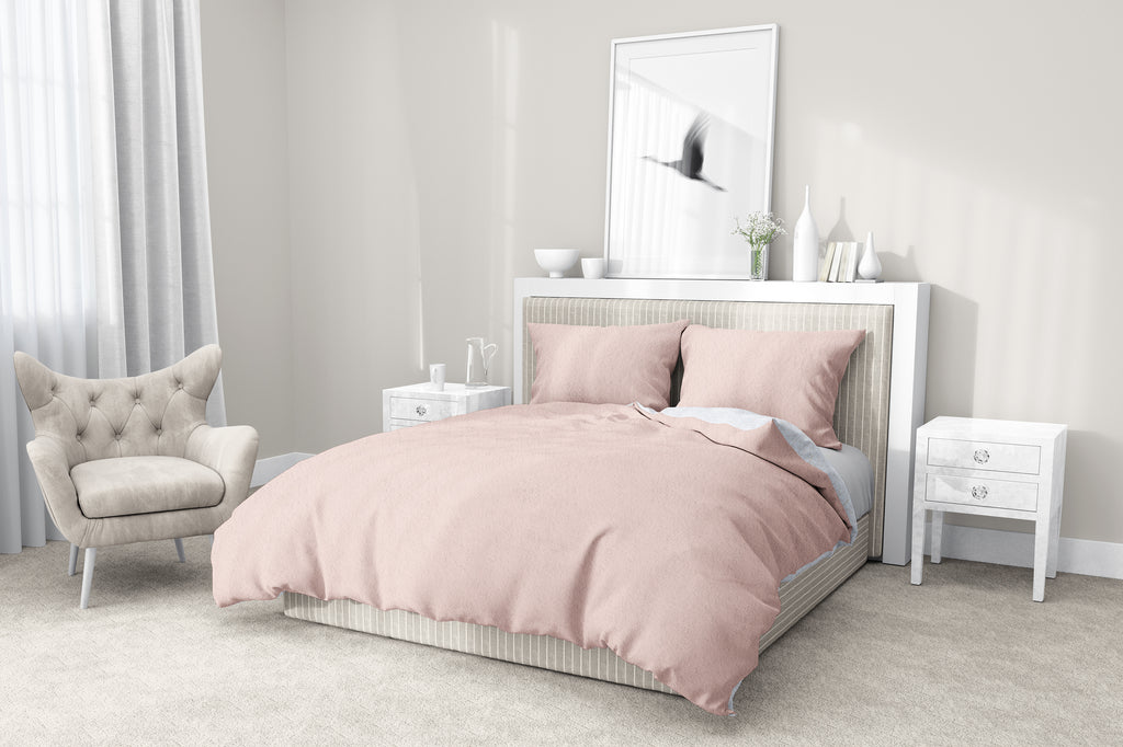 DUSTY PINK 5-Piece Sherpa Comforter Set By Kavka Designs