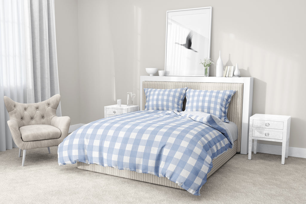 SERENE GINGHAM DREAM 5-Piece Sherpa Comforter Set By Kavka Designs