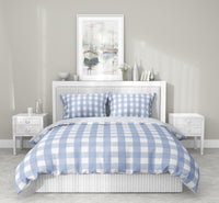 SERENE GINGHAM DREAM 5 Piece Sherpa Comforter Set By Kavka Designs