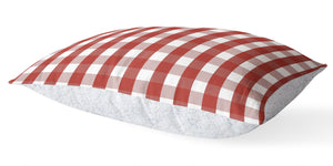 RED GINGHAM DREAM 5 Piece Sherpa Comforter Set By Kavka Designs