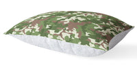 CAMO FLOW GREEN BROWN 5 Piece Sherpa Comforter Set By Kavka Designs