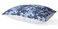 CAMO FLOW NAVY 5 Piece Sherpa Comforter Set By Kavka Designs