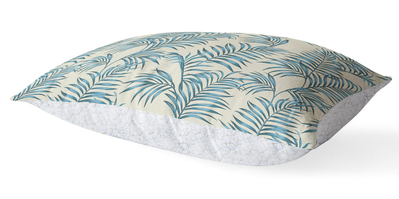 BLUE TROPICAL LEAVES 5 Piece Sherpa Comforter Set By Kavka Designs