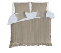 STRINGS TAUPE 5 Piece Sherpa Comforter Set By Kavka Designs