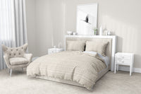 TRIBAL DANCE BEIGE 5 Piece Sherpa Comforter Set By Kavka Designs