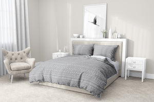 TRIBAL DANCE GREY 5 Piece Sherpa Comforter Set By Kavka Designs