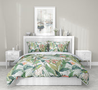 TROPICAL JUNGLE PASTEL 5-Piece Sherpa Comforter Set By Marina Gutierrez