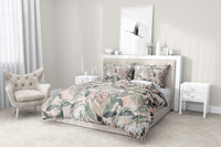 TROPICAL JUNGLE PINK & GREEN 5-Piece Sherpa Comforter Set By Marina Gutierrez