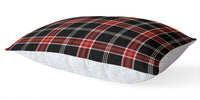 TARTAN BLACK AND RED 5 Piece Sherpa Comforter Set By Terri Ellis