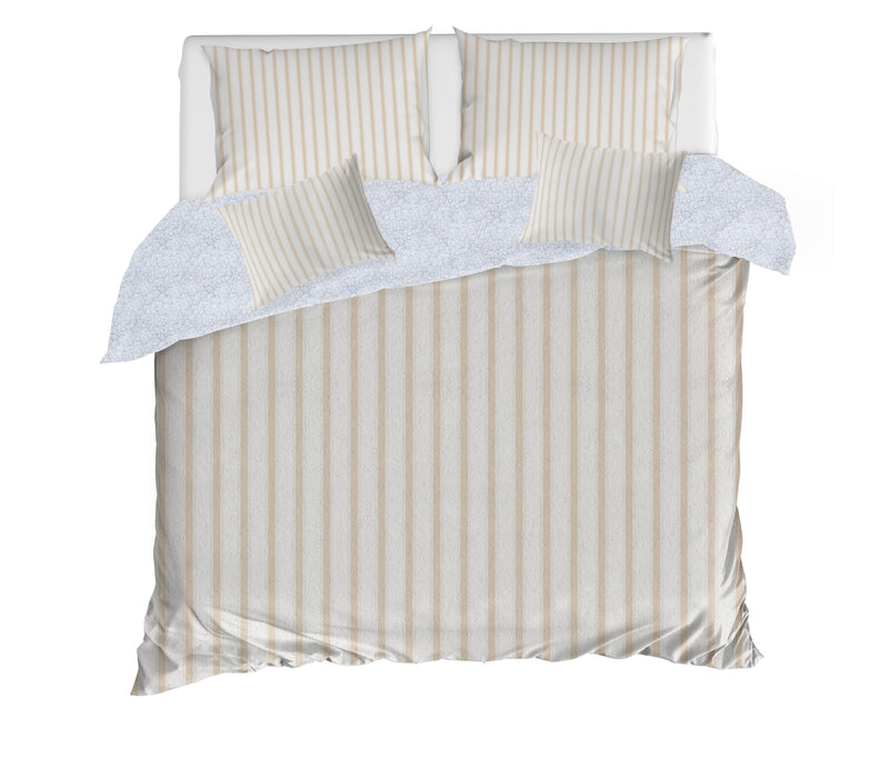 TICKING WHEAT 5 Piece Sherpa Comforter Set By Terri Ellis