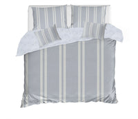 RYAN STRIPED GREY 5 Piece Sherpa Comforter Set By Terri Ellis