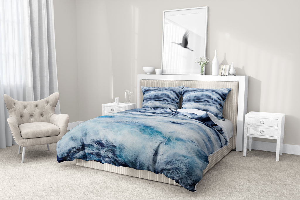 ARCTIC WAVES 5 Piece Sherpa Comforter Set By Christina Twomey