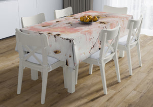 MARBLED PINK Table Cloth By Marina Gutierrez