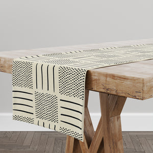 IVORY CROSSROADS Table Runner By Becky Bailey