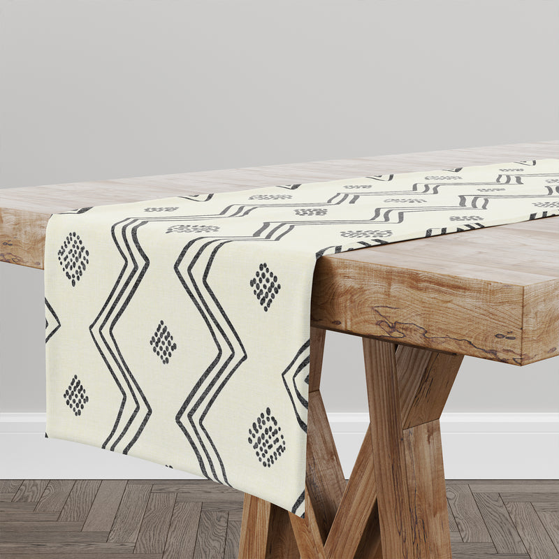 VILLAGE CREAM Table Runner By Becky Bailey