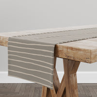 LINEAR TAUPE Table Runner By Kavka Designs