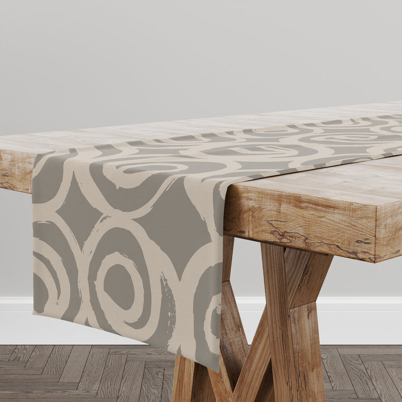 ROSES ABSTRACT TAUPE Table Runner By Kavka Designs