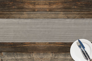 STRINGS GREY Table Runner By Kavka Designs