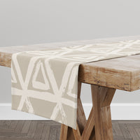 TRIANGULAR MIST  BEIGE Table Runner By Kavka Designs