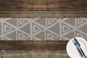 TRIANGULAR MIST GREY Table Runner By Kavka Designs